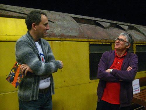 Ianvisits chatting to  Museum Depot Volunteer John