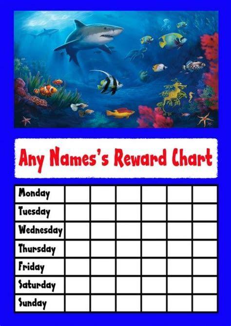 Underwater Shark Star Sticker Reward Chart   The Card Zoo