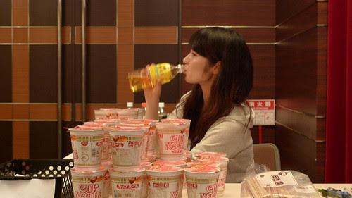Maiko drinking