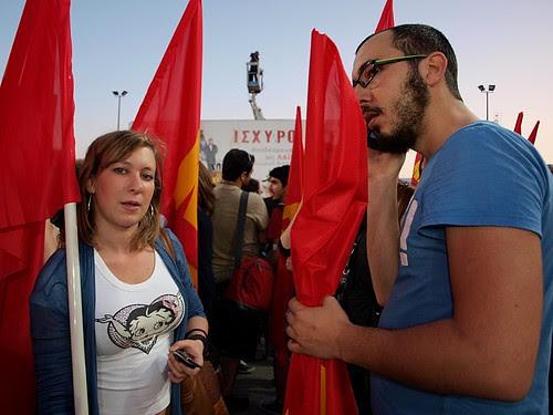 Greek communist party election rally - Thessaloniki, Greece