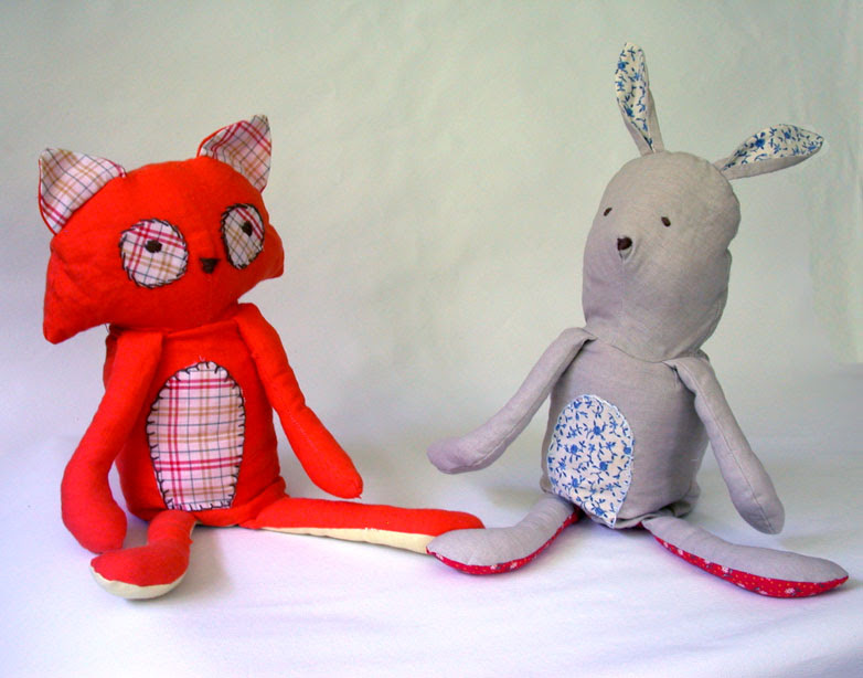 Bunny and Fox Flip Doll