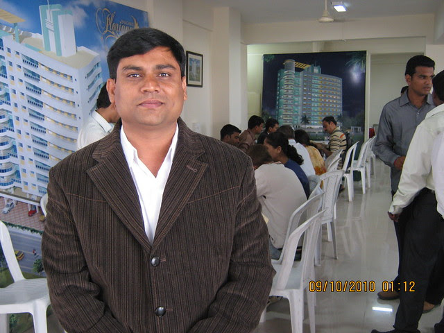 Sangram Nimhan, Director Marketing, Kishor Developers' Bhagwati Floriana 1 BHK 2 BHK Flats behind Maratha Mandir at Bavdhan Khurd in PMC Pune 411 021