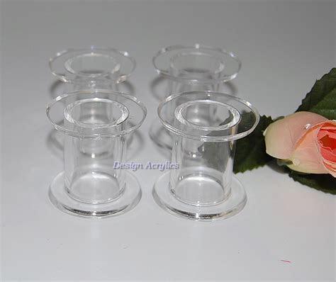 Clear Acrylic Tube Wedding Cake Pillars   Set Of 4