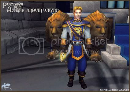 Postcards of Azeroth: Anduin Wrynn, by Rioriel Ail'thera of theshatar.eu