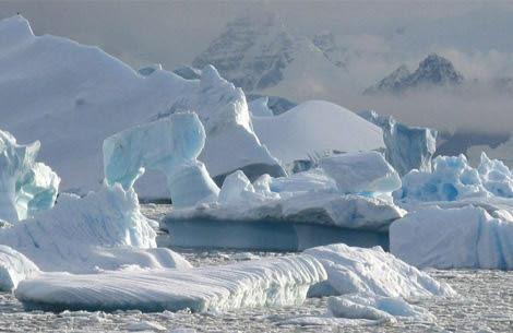 Deshielo en la Península Antártica, en el hemisferio sur. | Nerilie Abram