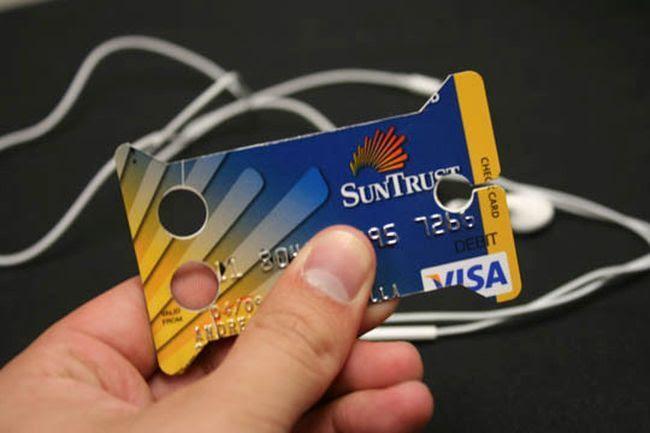 suporte para fones de ouvido 2 8 usos inteligentes para o cartão de crédito vencido