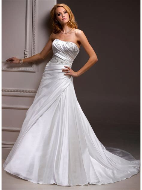 White Wedding Dresses Cheap   Dresscab