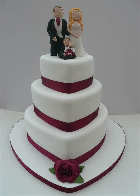 Heart Shaped wedding cake   Fun Cakes