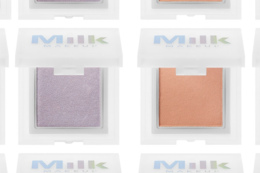 MILK MAKEUP Holographic Highlighting Powder Swatches