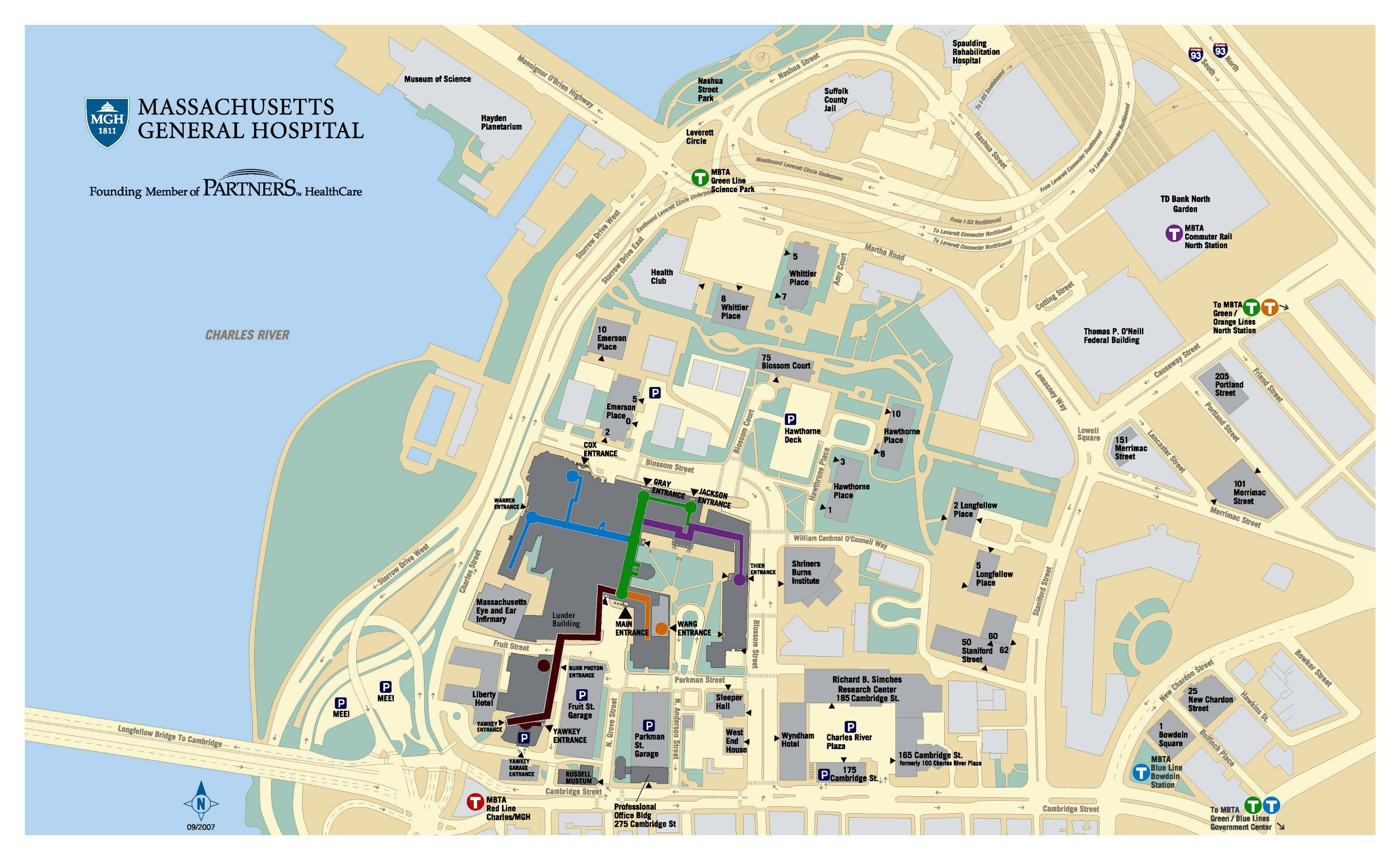 Mgh Campus Map Mass General Campus Map | Map Of Us Western States