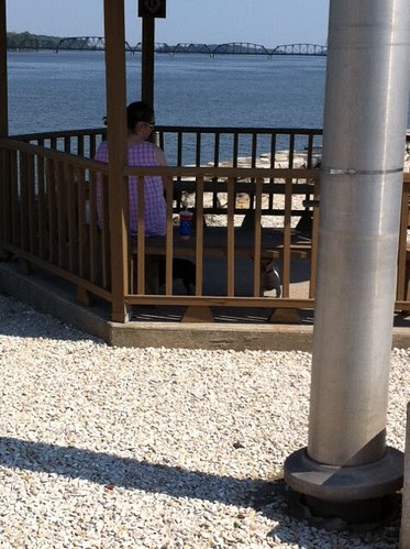 Lunch gazebo on Mississippi River at Louisiana, MO