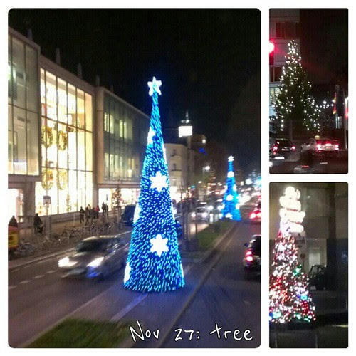 Nov 27: tree Christmas #trees in #Berlin #decoration #fmsphotoaday #lights