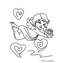 Dibujos Para Colorear Cúpido Disparando Amor Eshellokidscom