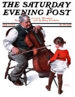 Little girl dances while gramps plays cello