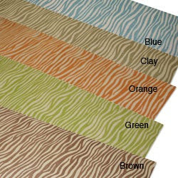 Zebra Print Linen Table Runner | Overstock.