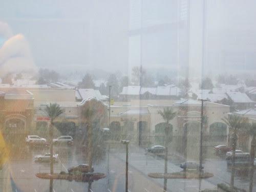 Snow in Las Vegas: Office Window