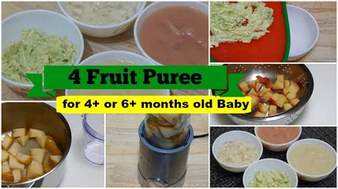 fruit puree     months baby  healthy baby food