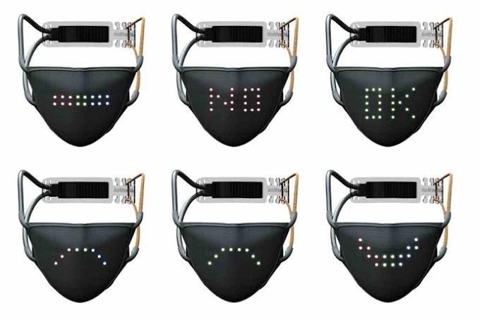 JABBER MASK WILL REFLECT MOUTH MOVEMENTS USING LED LIGHTS
