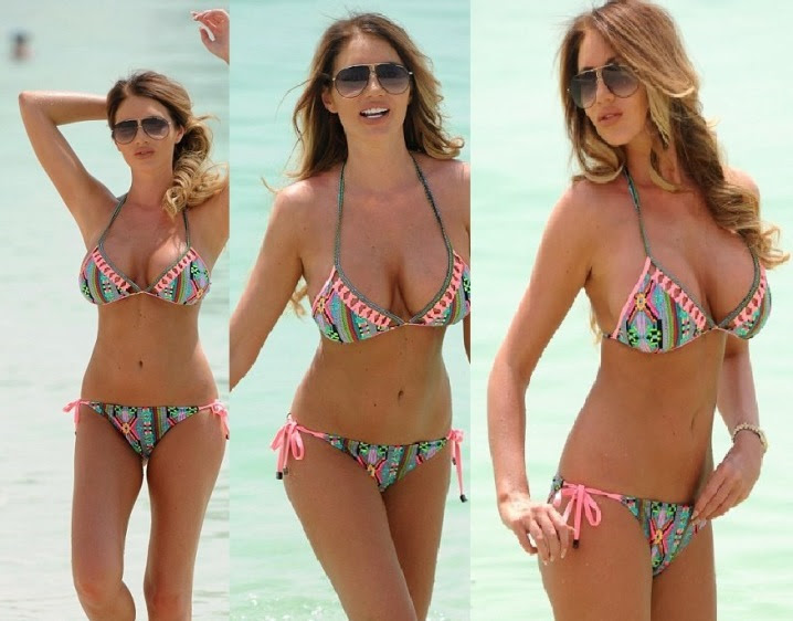 Amy Childs Heats Up Dubai Beach with Her Bigger Assets in Full Display
