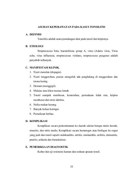 7. asuhan keperawatan pada tonsilitis