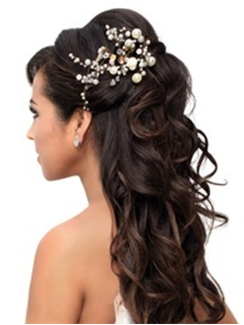 Wedding hairstyles bride best wedding hairs brides hair piece modern trousseau charleston via smp looking stunning with long wedding hairstyles with flowers 19 bridal hairstyles to junglespirit Images
