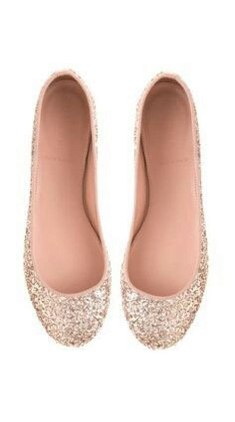 shoes sequin flats rose gold sparkle flats glitter