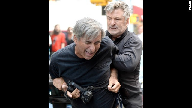In August 2013, both Baldwin and a photographer called the police to report an incident in New York. Apparently a standoff ensued after the photographer got too close for Baldwin's liking while he was with Hilaria. Baldwin has had several disputes<a href='http://www.cnn.com/video/data/2.0/video/showbiz/2013/08/28/newday-dnt-turner-alec-baldwin-paparazzi.cnn.html'> with paparazzi. </a>
