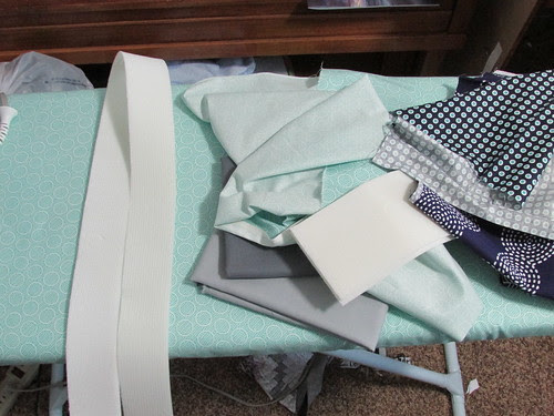 new ironing board cover--covered with fabric
