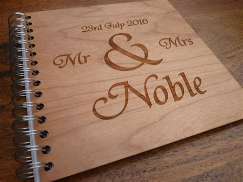 Personalised Wooden Wedding Guestbook ? Personalised Gifts