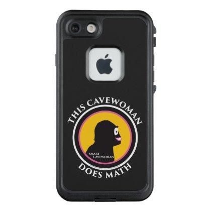 Fre LIfeproof iPhone Case Math Smart Cavewoman