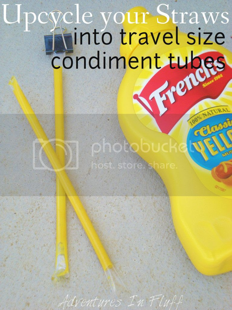 How To Upcycle your Straws into Travel Size Condiment Tubes