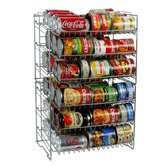 Six Shelf Canrack in Silver