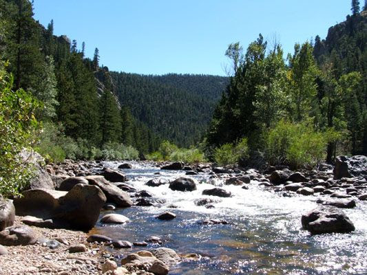 Babbling mountain brooks and rivers on a sunny day!