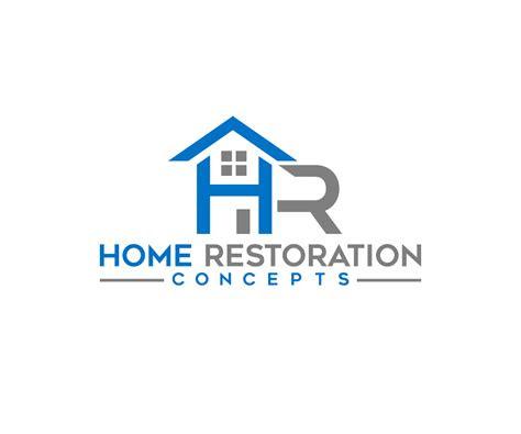 modern masculine home improvement logo design  home