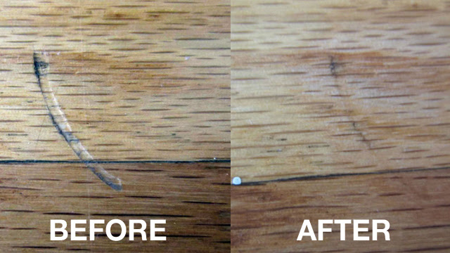 Click here to read Remove Scratches and Dents in Hardwood Floors with an Iron