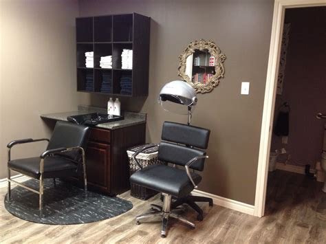 salon setup  solid wall shampoowaxing  station