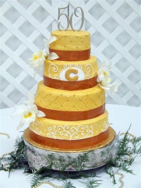 Four tier 50th anniversary Wedding Cake Hi Res 720p HD