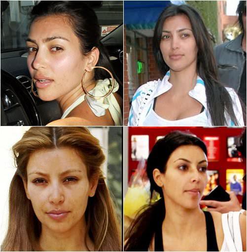 kim kardashian no make up