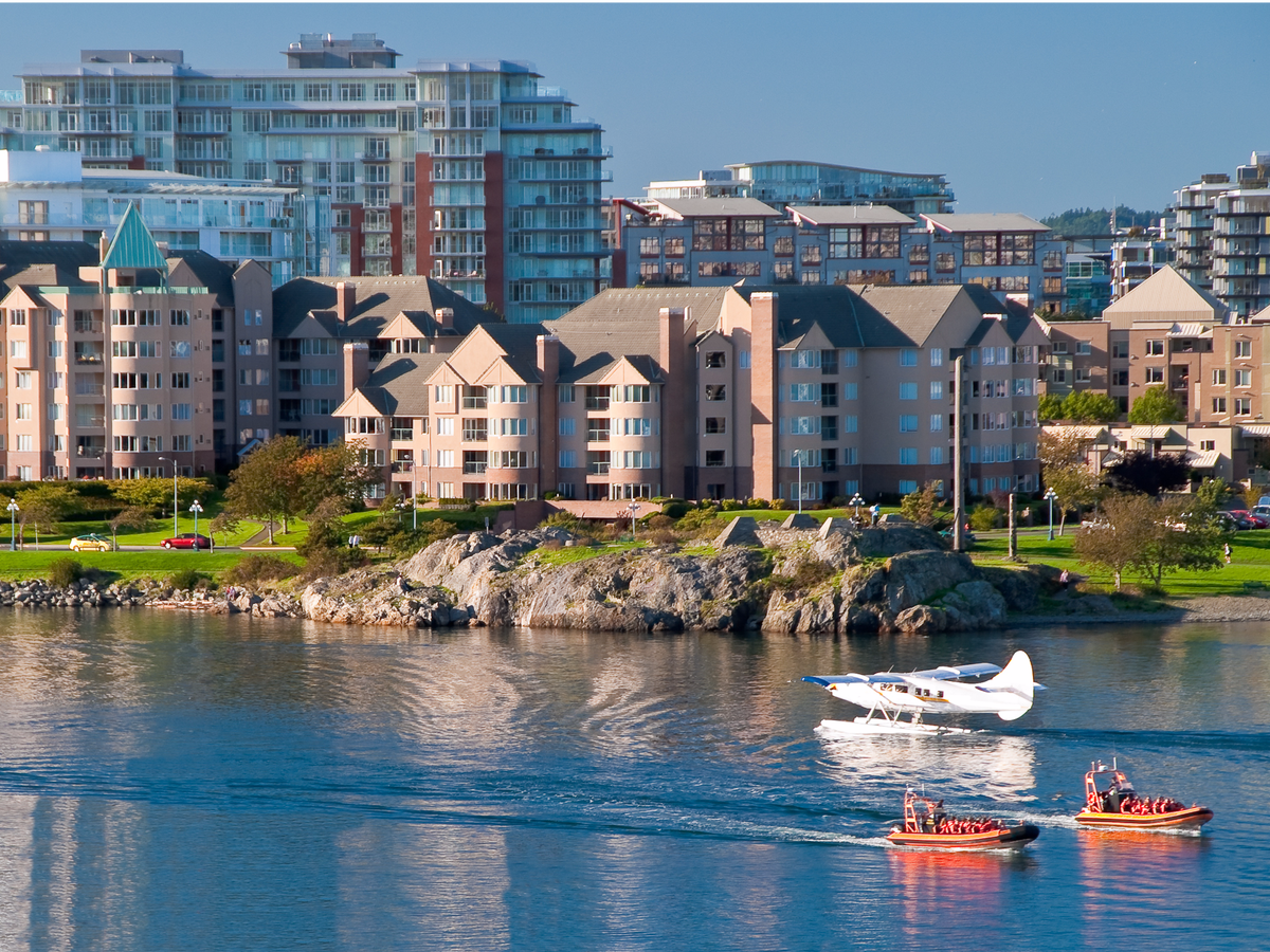 Its harbor is busy with whale-watching boats, seaplanes, and other seafaring vessels.