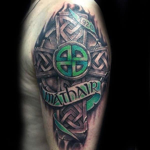 100 Celtic Cross Tattoos For Men Ancient Symbol Design Ideas