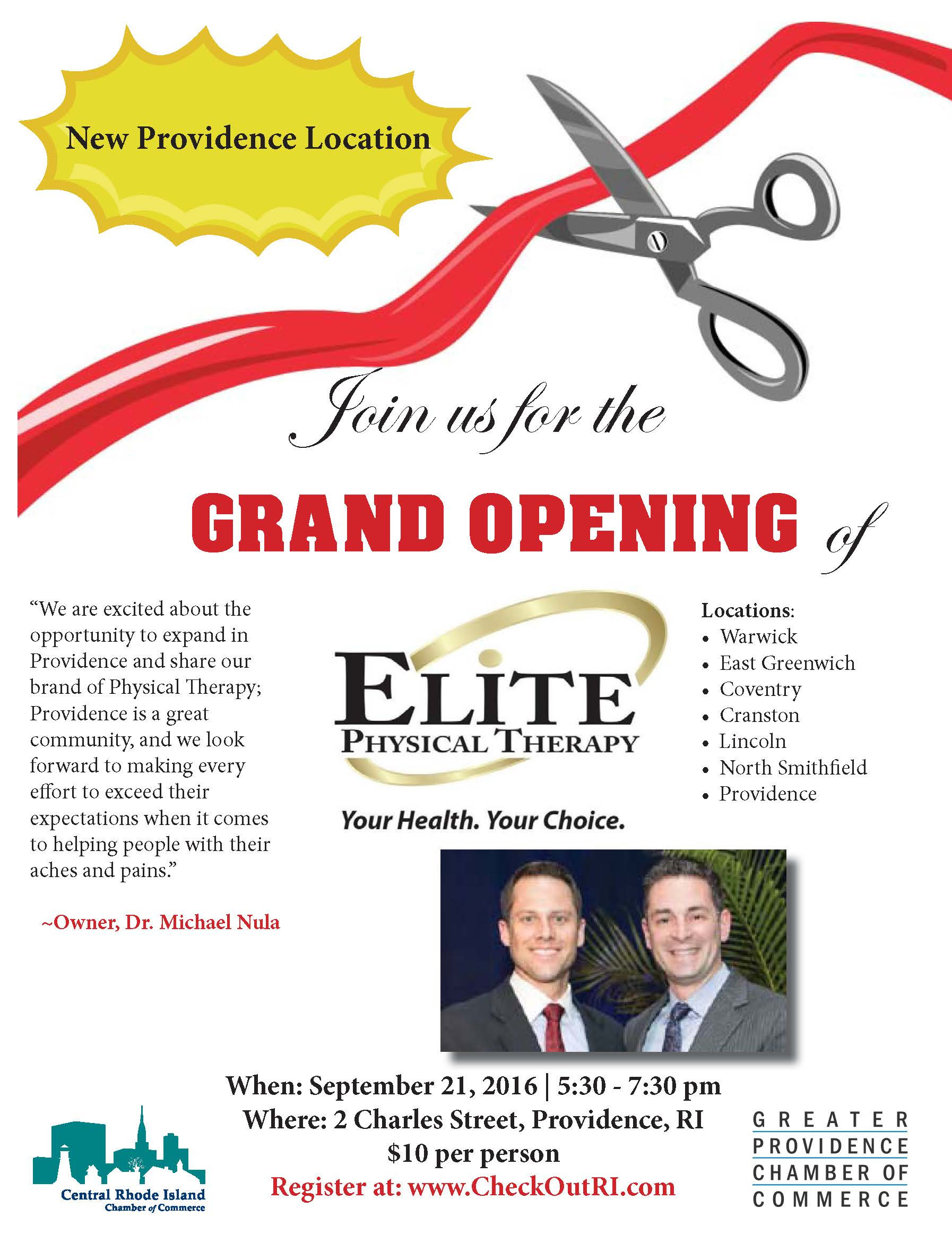 BAH - Elite Physical Therapy Grand Opening - September 21 ...