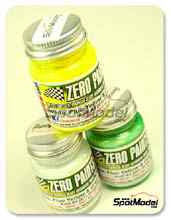 Set de Pintura Zero Paints - Audi A4 DTM Team Schaeffler - Amarillo + blanco + verde - Yellow + White + Green - 3x30ml  para Aerógrafo