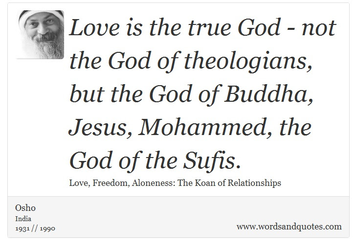 On God Love Is The True God Not The God Of Theologia