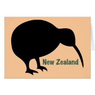 New Zealand Kiwi Bird card