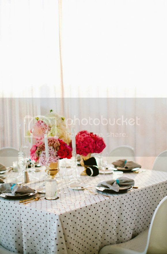 polka dot wedding table