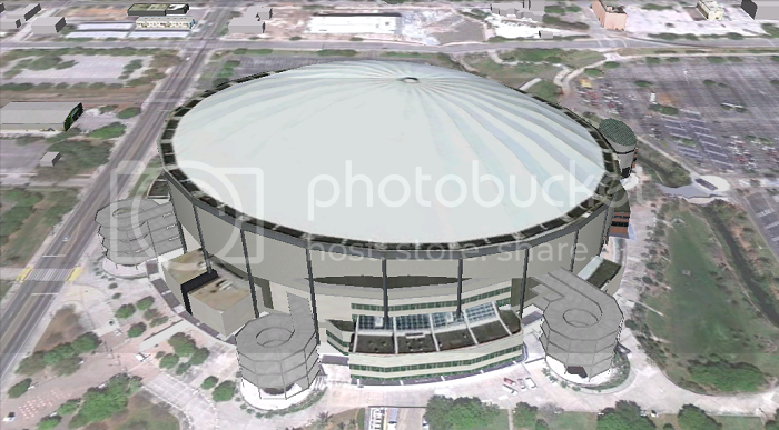 Tropicana Field, Saint Petersburg (FL; Tampa Bay; 3D model by Google 3D Warehouse)
