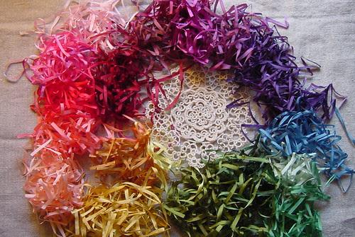 Silk Ribbon Rainbow