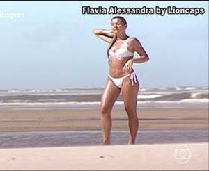 Flavia Alessandra sensual nas novela Caras & Bocas e Porto dos Milagres