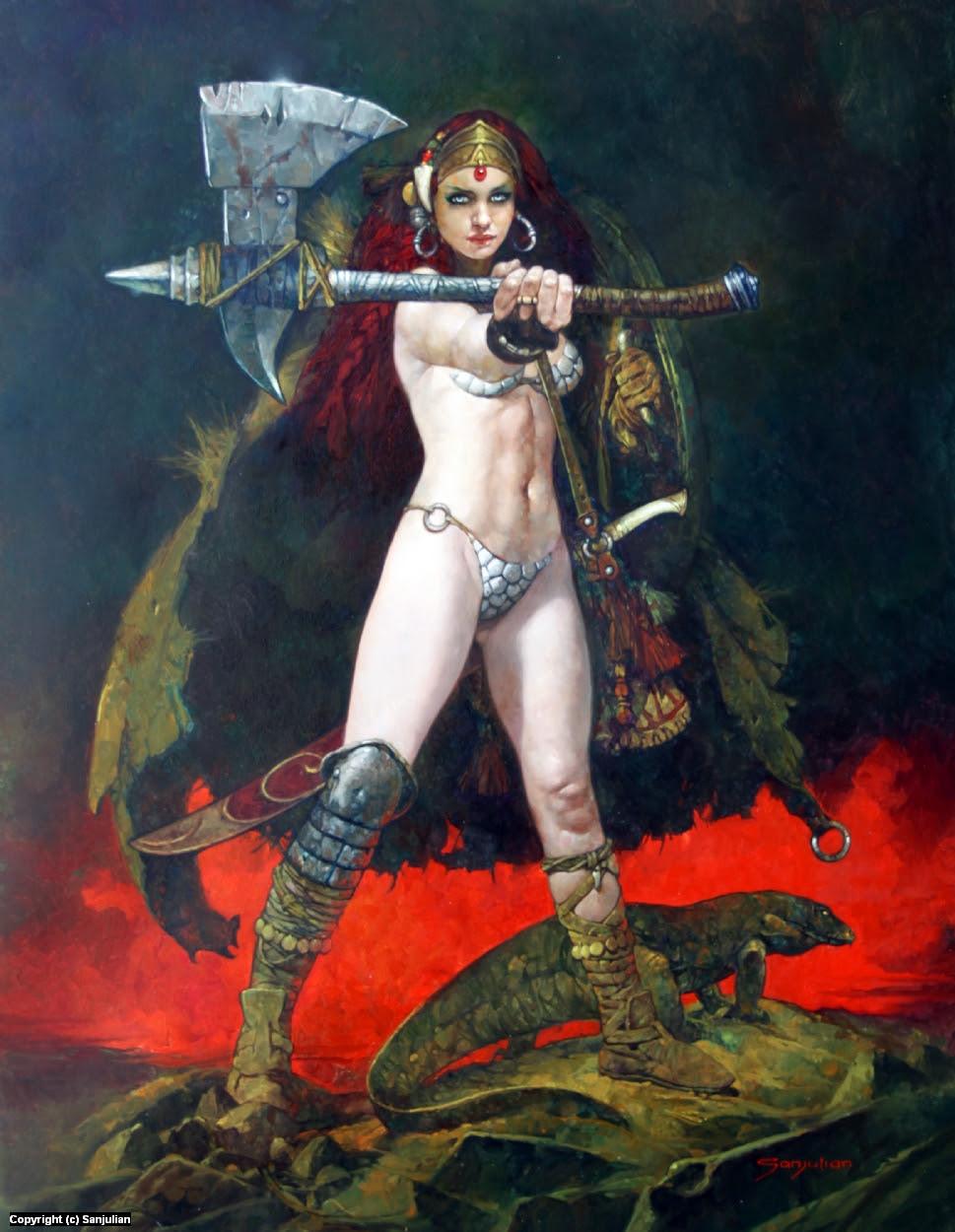 Warrior Princess Artwork by Manuel Sanjulian