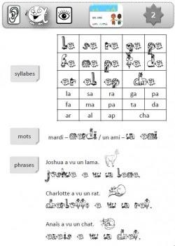 Affichage et fiches de lectures du soir Croques-lignes/Alphas